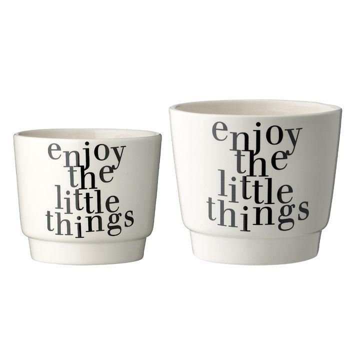 Набор из двух кашпо Enjoy из керамики