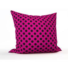 Декоративная подушка: Черный горошек