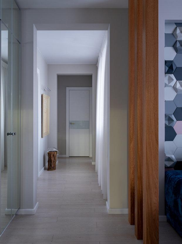 Фотография: Прихожая в стиле Современный, Квартира, Проект недели, Москва, П-55, Панельный дом, 4 и больше, 60-90 метров, Анна Елина – фото на INMYROOM