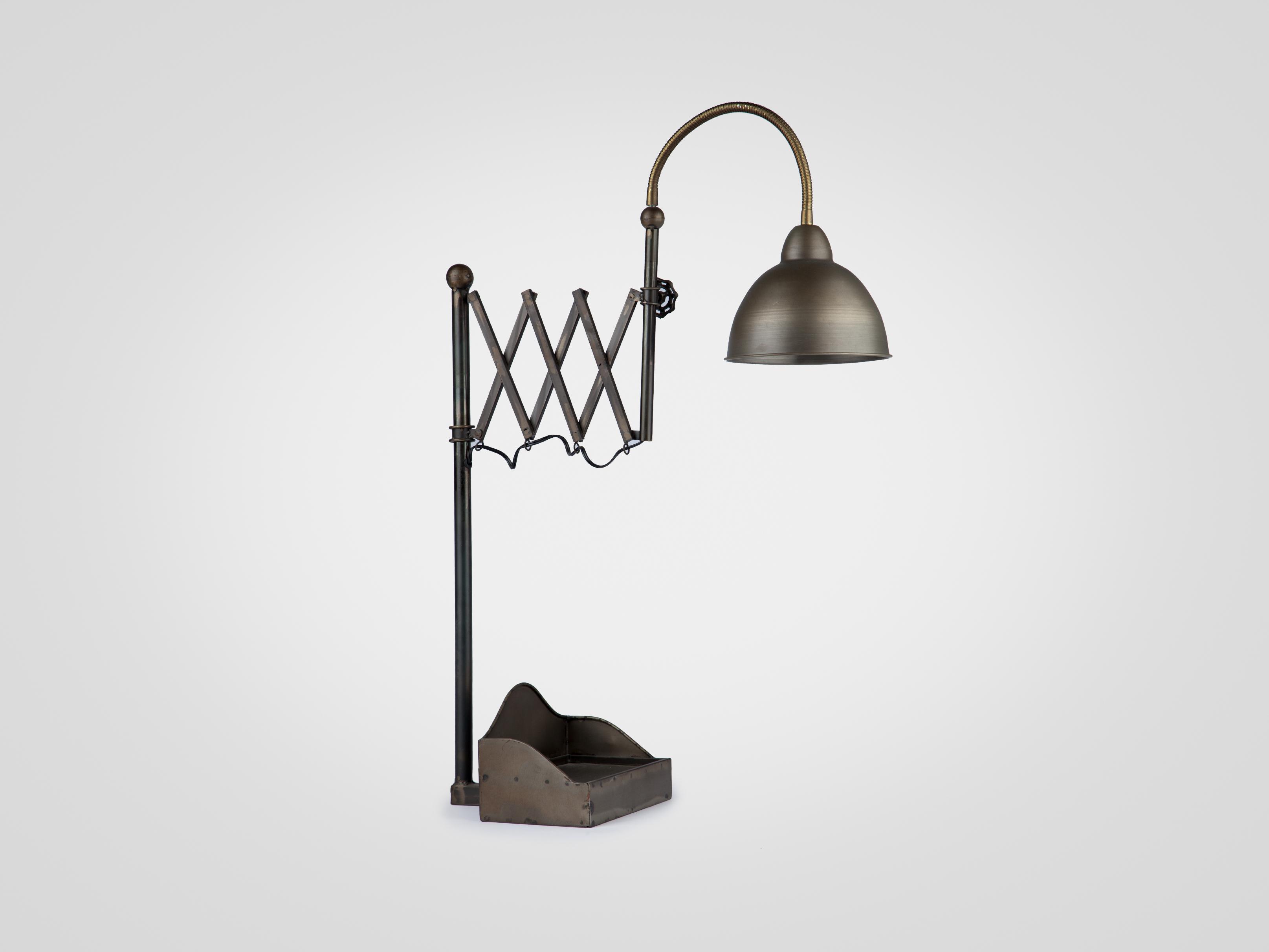 Настольная лампа металлическая в индустриальном стиле, inmyroom, Китай  - Купить