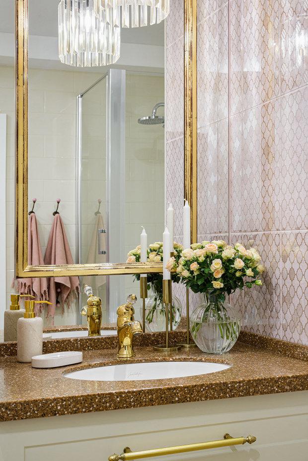 Фотография: Ванная в стиле Классический, Квартира, Проект недели, Монолитный дом, 3 комнаты, 60-90 метров, Кемерово, Екатерина Усикова – фото на INMYROOM