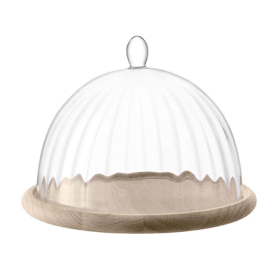 Блюдо со стеклянным куполом Lsa Aurelia d25 см