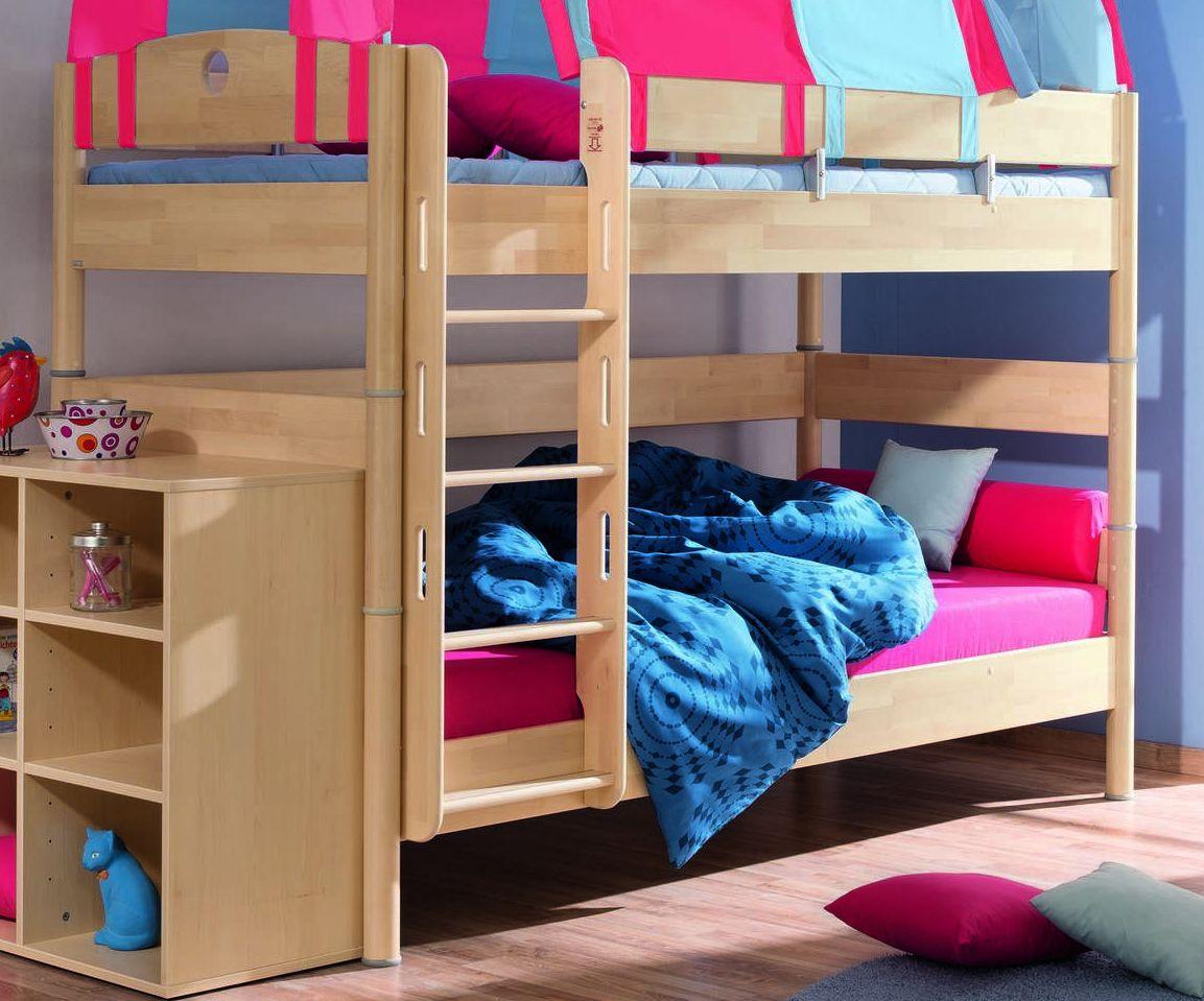Кровать двухъярусная Fleximo с прямой лестницей
