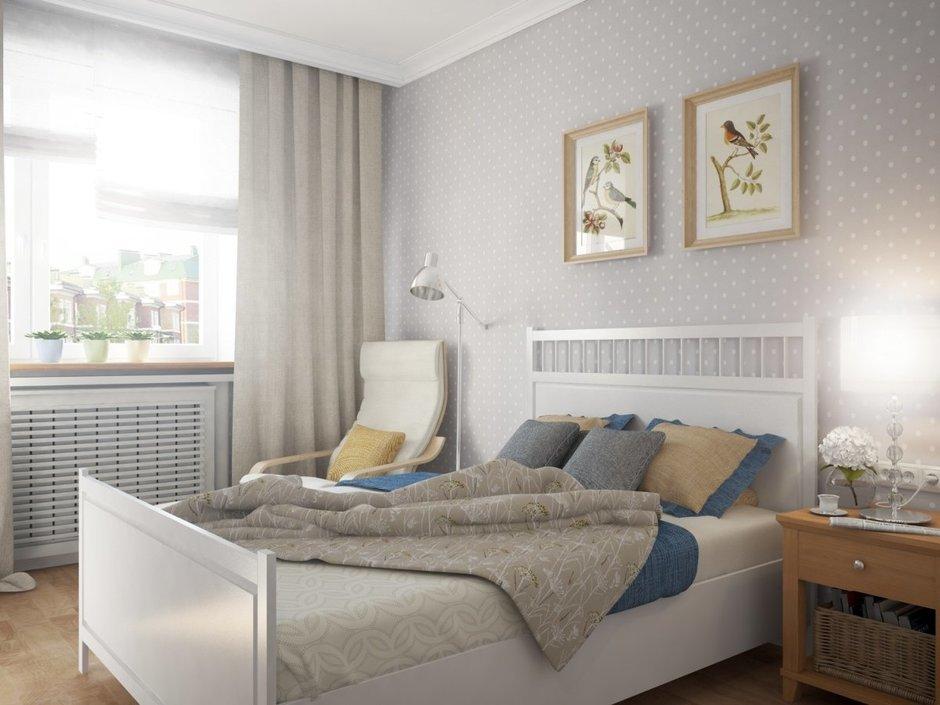 Фотография: Спальня в стиле Прованс и Кантри, Квартира, Цвет в интерьере, Дома и квартиры, Белый, Проект недели – фото на InMyRoom.ru
