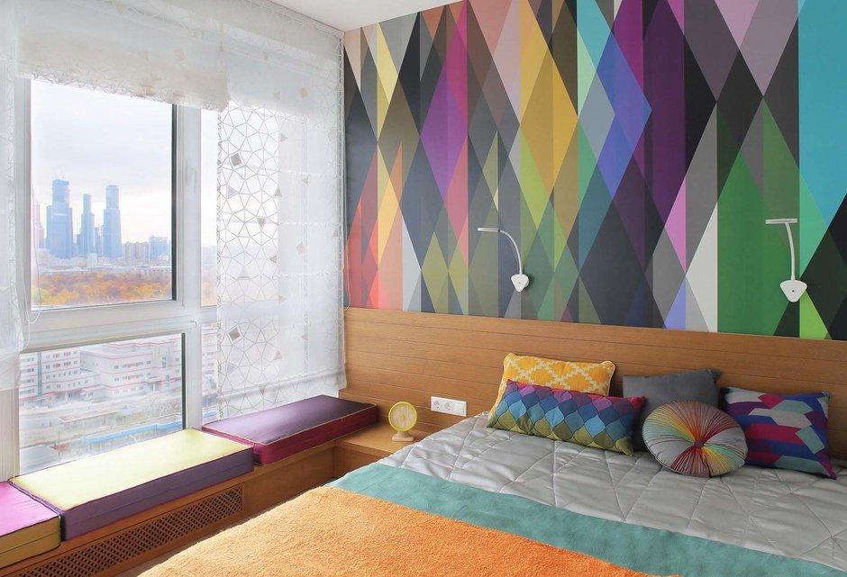 Фотография: Спальня в стиле Современный, Квартира, Студия, Проект недели, Оксана Олейник, 40-60 метров, Монолитно-кирпичный – фото на InMyRoom.ru