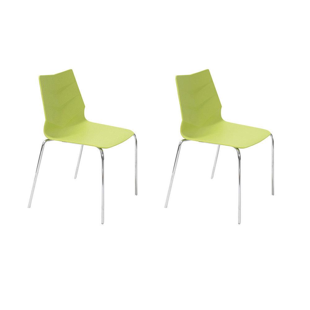Купить Набор из двух стульев на ножках из хромированного металла, inmyroom, Китай
