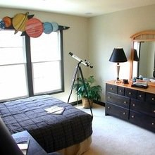 Фотография: Спальня в стиле Кантри, Декор интерьера, Декор дома, Шторы, Окна – фото на InMyRoom.ru