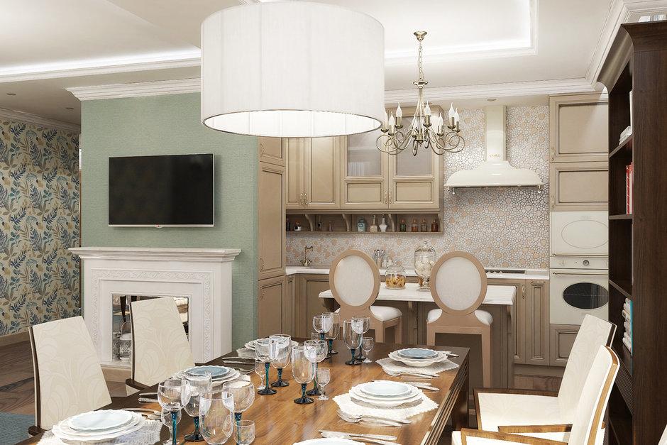 Фотография: Кухня и столовая в стиле Прованс и Кантри, Квартира, Дома и квартиры, Проект недели – фото на InMyRoom.ru