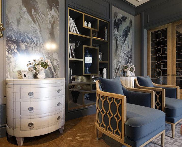 Фотография: Гостиная в стиле Классический, Проект недели, Сталинка, Мария Нечаева – фото на InMyRoom.ru