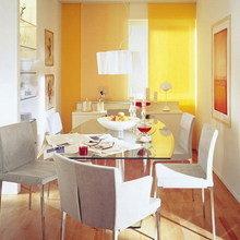 Фотография: Кухня и столовая в стиле Современный, Гостиная, Интерьер комнат, Переделка, Ремонт – фото на InMyRoom.ru