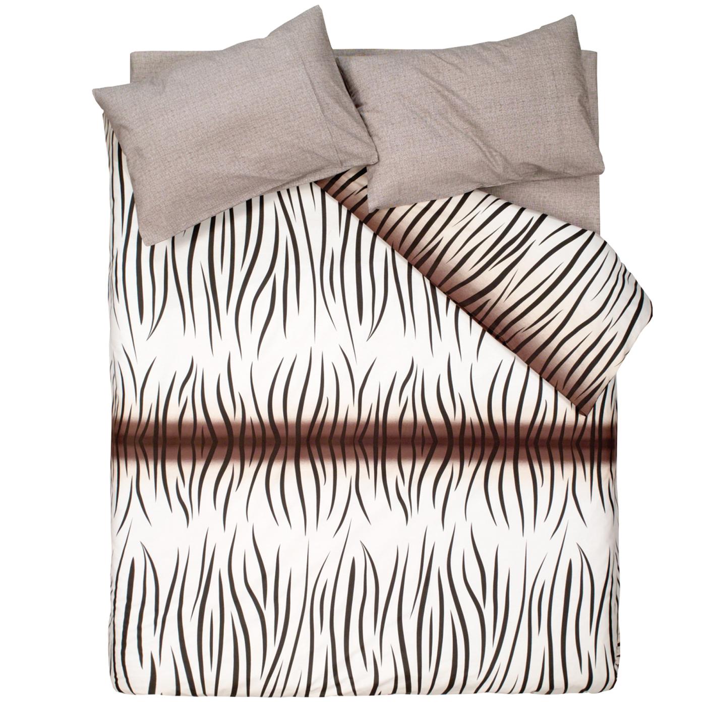 Купить Комплект постельного белья Safari Black Euro, inmyroom, Турция