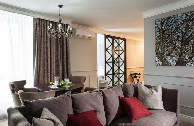 Фотография: Гостиная в стиле Современный, Малогабаритная квартира, Квартира, Индустрия, События – фото на InMyRoom.ru