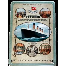 Табличка с тиснением - Титаник