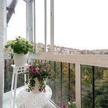 Фотография: Балкон, Терраса в стиле Скандинавский, Современный, Гостиная, Декор интерьера, Интерьер комнат, Тема месяца – фото на InMyRoom.ru