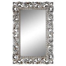 Настенное зеркало Лиа в декоративной раме серебряного цвета