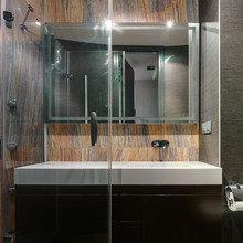 Фото из портфолио Апартаменты 7NebO со стеклянной стеной в Киеве – фотографии дизайна интерьеров на INMYROOM