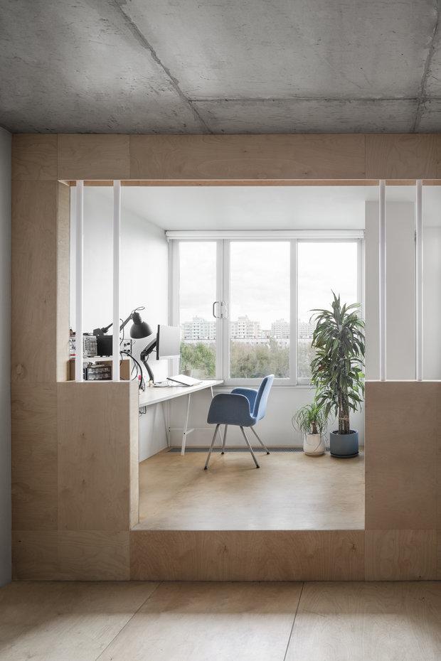 Фотография: Кабинет в стиле Минимализм, Квартира, Студия, Проект недели, Москва, 40-60 метров, Схема – фото на INMYROOM