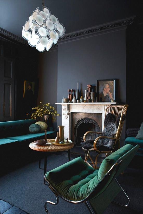 Фотография: Гостиная в стиле Классический, Декор интерьера, Дизайн интерьера, Цвет в интерьере – фото на InMyRoom.ru