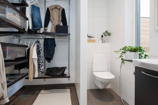Фотография: Ванная в стиле Скандинавский, Квартира, Дома и квартиры, Стокгольм – фото на InMyRoom.ru