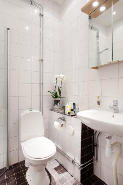 Фотография: Ванная в стиле Современный, Гостиная, Классический, Малогабаритная квартира, Квартира, Дома и квартиры, Стокгольм – фото на InMyRoom.ru
