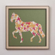 """Коллаж в раме """"Лошадь"""""""