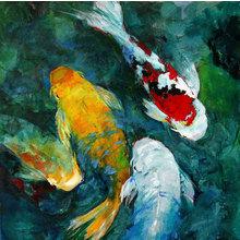 Картина (репродукция, постер): Koi in acrylic - Арлин Ву