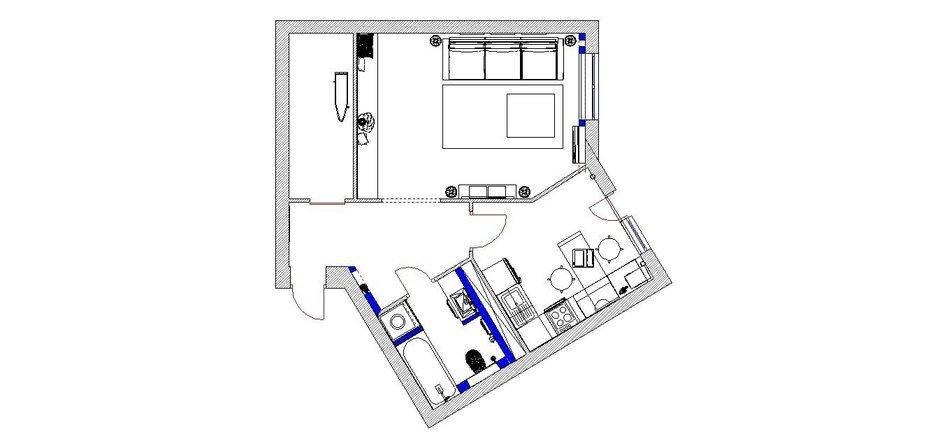 Фотография: Планировки в стиле , Квартира, Дома и квартиры, Минимализм, Проект недели – фото на InMyRoom.ru