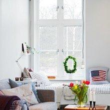 Фотография: Гостиная в стиле Скандинавский, Малогабаритная квартира, Квартира, Дома и квартиры, Гетеборг – фото на InMyRoom.ru