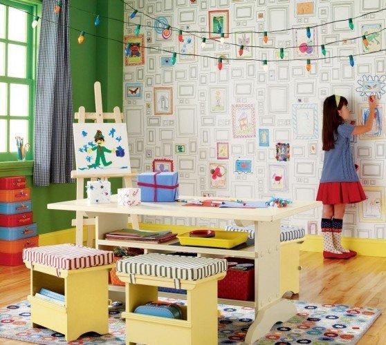 Фотография:  в стиле , Детская, Советы, Роспись, Декоративная штукатурка, идеи для детской, Елена Булагина, Отделка стен, декор стен, интерьер детской, фотообои в интерьере, как оформить детскую, фотообои в детской, натуральные обои в интерьере, настеннный декор, как подобрать обои в интерьер – фото на InMyRoom.ru