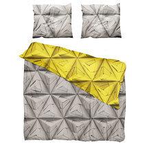 """Комплект постельного белья """"Оригами"""" желтый 200х220"""