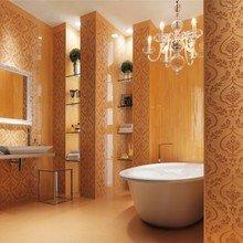Фотография: Ванная в стиле Классический, Декор интерьера, DIY, Дом, Декор дома, Цвет в интерьере, Обои – фото на InMyRoom.ru
