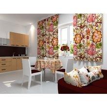 Кухонная скатерть: Цветочная феерия