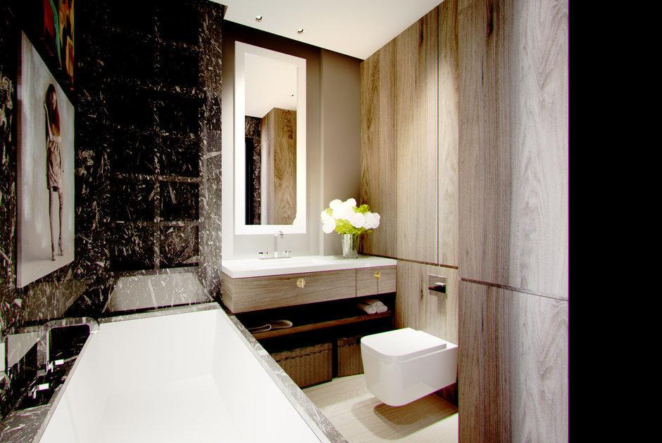 Фотография: Ванная в стиле , Малогабаритная квартира, Квартира, Дома и квартиры – фото на InMyRoom.ru