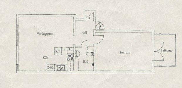 Фото из портфолио Fjällgatan 3J – фотографии дизайна интерьеров на INMYROOM