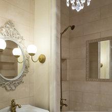 Фотография: Ванная в стиле Кантри, Классический, Эклектика, Квартира, Проект недели – фото на InMyRoom.ru