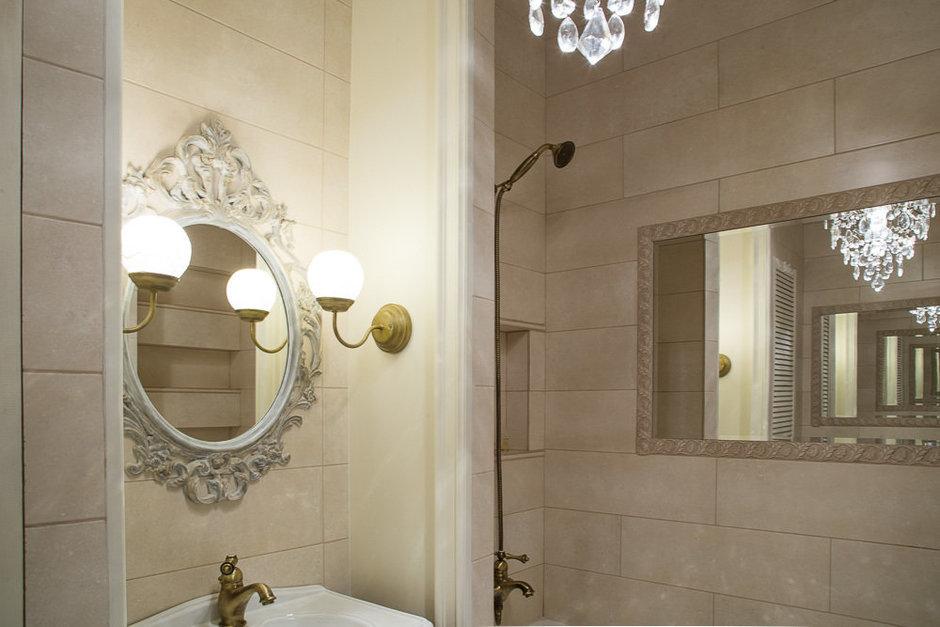 Фотография: Ванная в стиле Прованс и Кантри, Классический, Эклектика, Квартира, Проект недели – фото на InMyRoom.ru