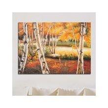 Дизайнерская картина на холсте: Осенние березы