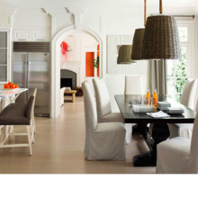 Фотография: Кухня и столовая в стиле Кантри, Дом, Цвет в интерьере, Дома и квартиры, Оранжевый – фото на InMyRoom.ru