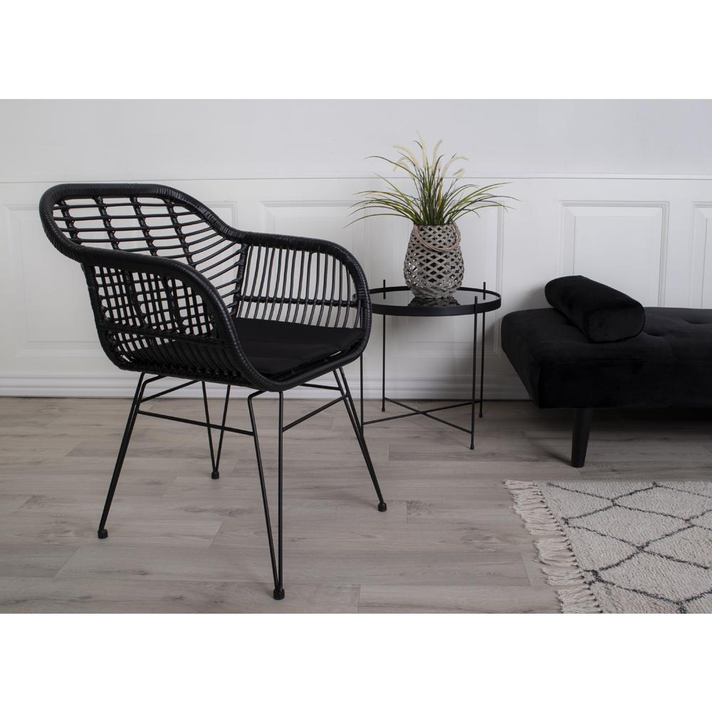 Кресло с подушкой Trieste черного цвета