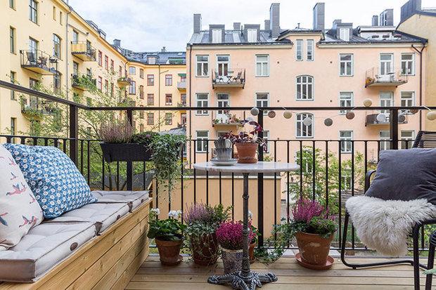 Фотография: Терраса в стиле Скандинавский, Декор интерьера, Квартира, Стокгольм – фото на INMYROOM