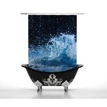 Шторы для ванной: Капли моря