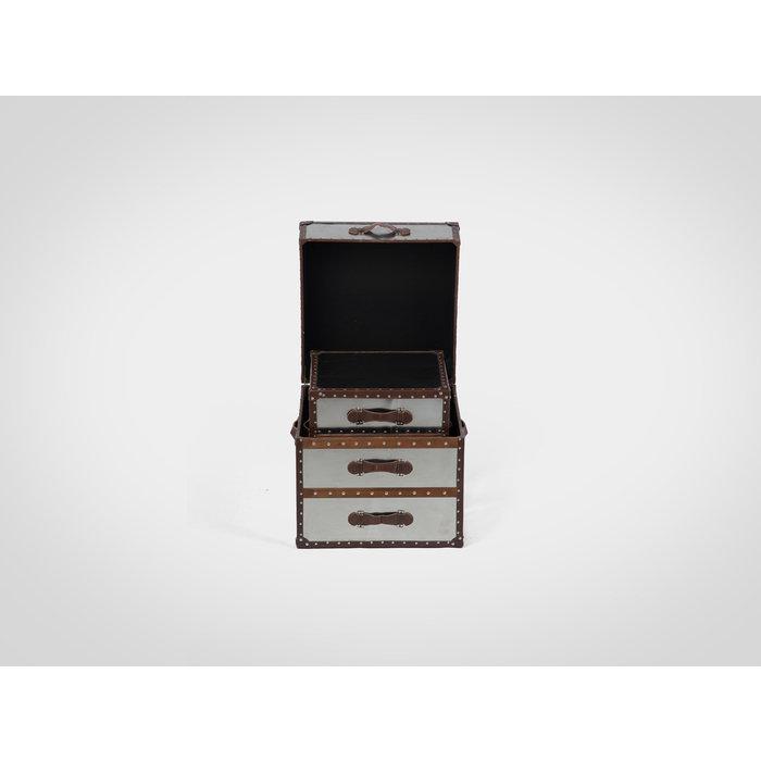 Сундуки (комплект из 2 штук) обитых металлом 61/51 x 61/56 x 61/51 см