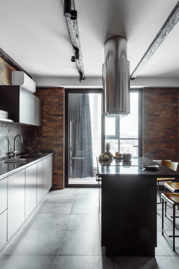 """Фото из портфолио Фото кухни реализованного проекта квартиры, расположенной в ЖК """"Центральном"""".  – фотографии дизайна интерьеров на INMYROOM"""