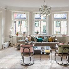 Фото из портфолио Просторная квартира в 2-х уровнях с прекрасной террасой. – фотографии дизайна интерьеров на InMyRoom.ru