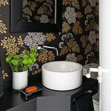 Фотография: Ванная в стиле Современный, Квартира, Цвет в интерьере, Дома и квартиры, Желтый, Бирюзовый – фото на InMyRoom.ru