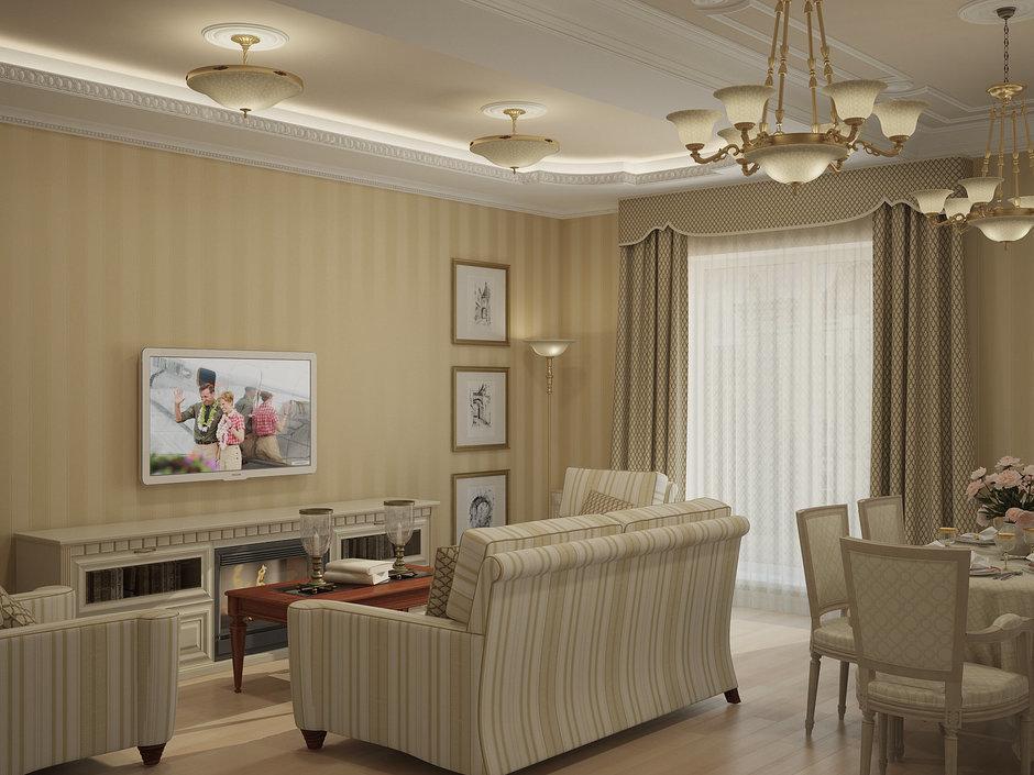 Фотография: Гостиная в стиле Классический, Квартира, Дома и квартиры, Москва – фото на InMyRoom.ru