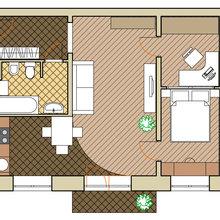 Фотография: Планировки в стиле , Квартира, Дома и квартиры, Перепланировка – фото на InMyRoom.ru