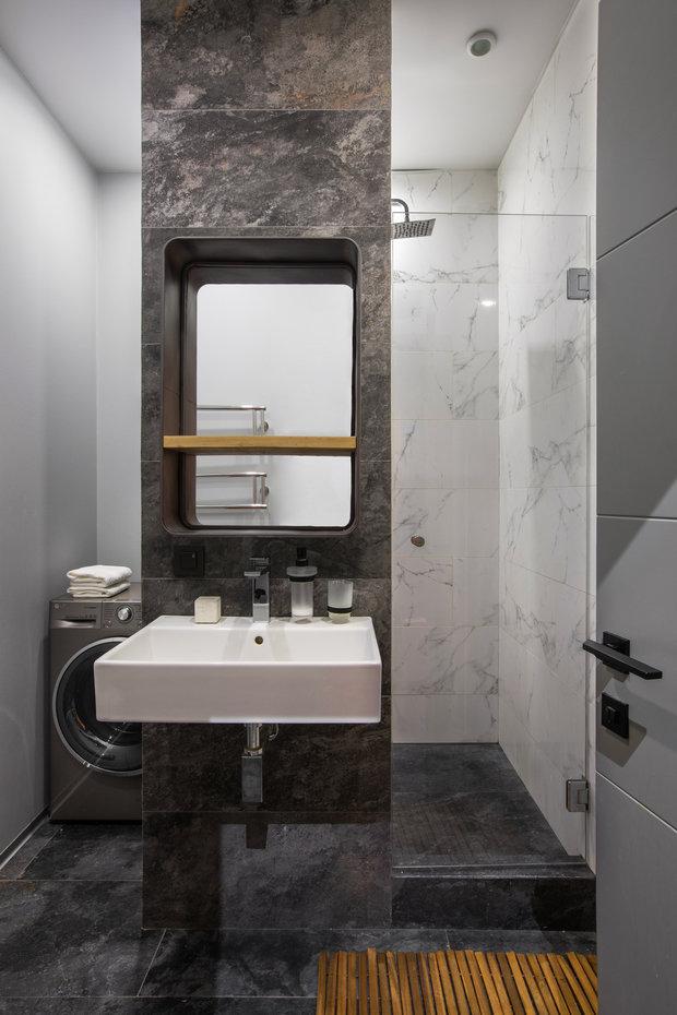 Фотография: Ванная в стиле Современный, Квартира, Студия, Проект недели, Москва, 40-60 метров, Анна Никитина – фото на INMYROOM