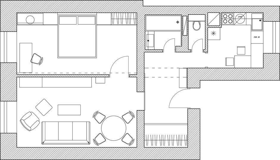 Фотография: Планировки в стиле , Скандинавский, Эклектика, Квартира, Дома и квартиры, Проект недели, Эко – фото на InMyRoom.ru