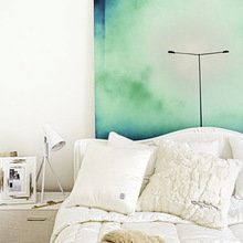 Фотография: Спальня в стиле Минимализм, Малогабаритная квартира, Квартира, Дома и квартиры, Стеновые панели – фото на InMyRoom.ru